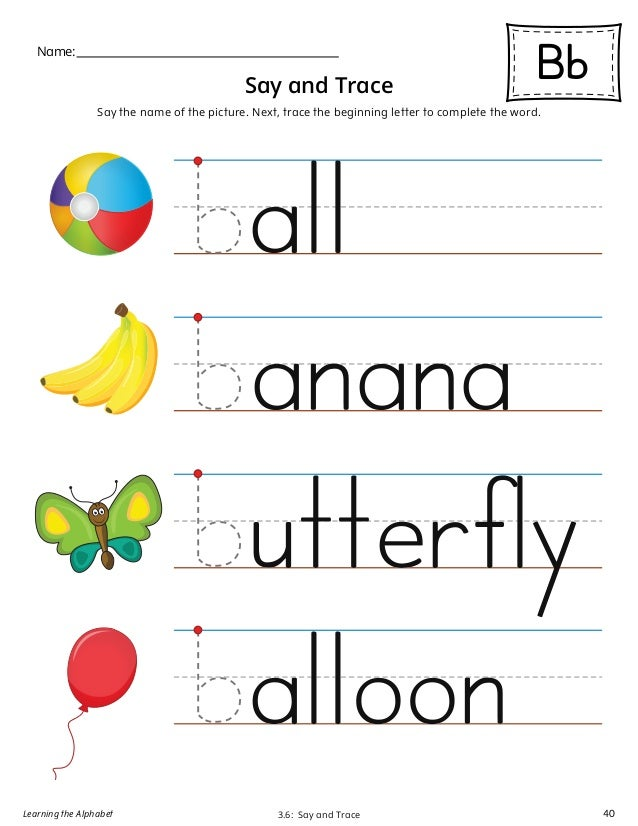 Learning The Alphabet 39 40