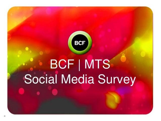 BCF | MTSSocial Media Survey