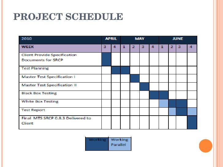 simple project schedule