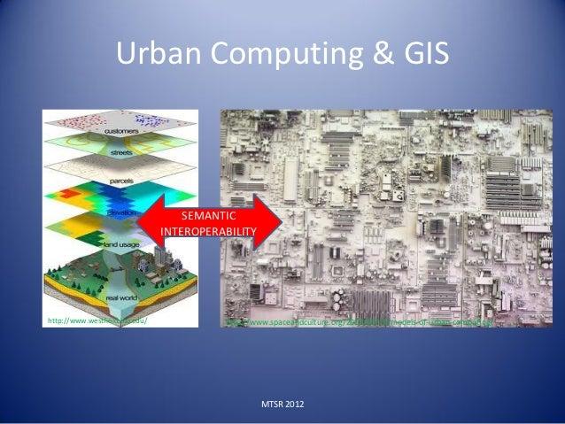 Urban Computing & GIS                                   SEMANTIC                               INTEROPERABILITYhttp://www....