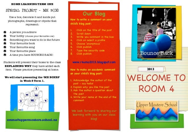 HOME LEARNING TERM ONE SPECIAL PROJECT - ME BOX!                                                          Our Blog    Use ...