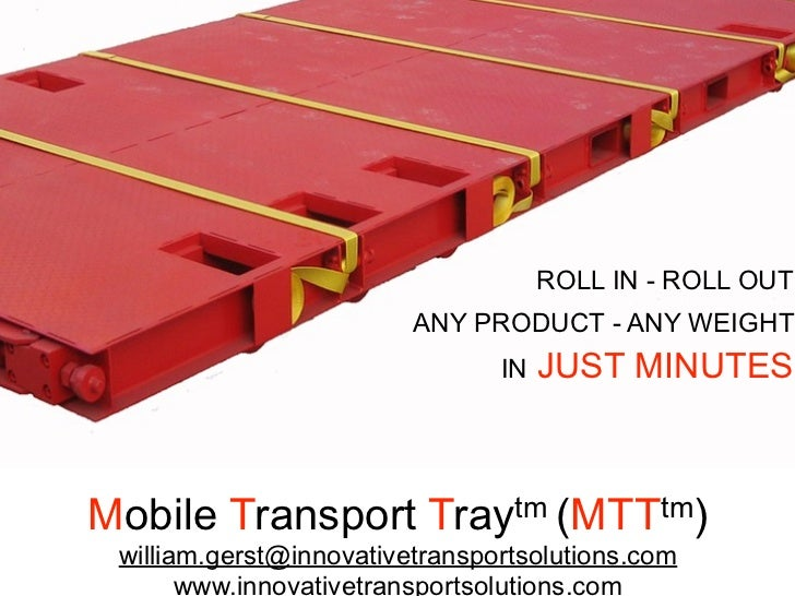 ROLL IN - ROLL OUT                          ANY PRODUCT - ANY WEIGHT                                 IN   JUST MINUTES    ...