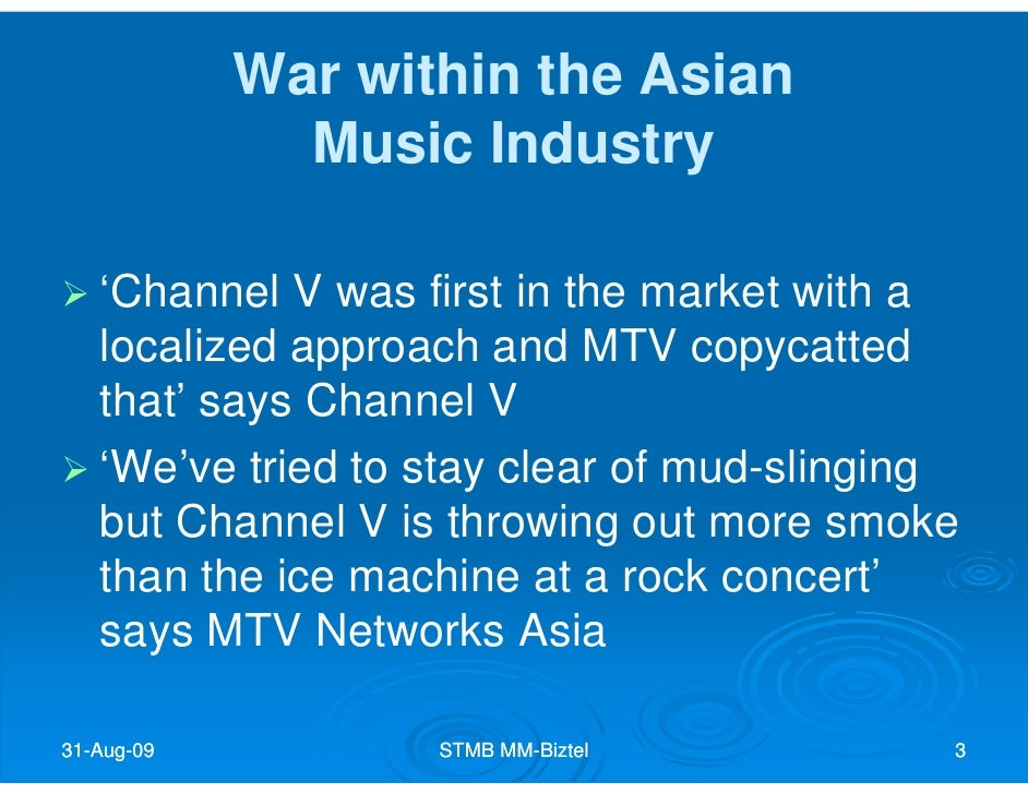 mtv case analysis The music television channel used to create mtv video music awards in which they give recognition for those performers who were able to reach significant sales of their records.