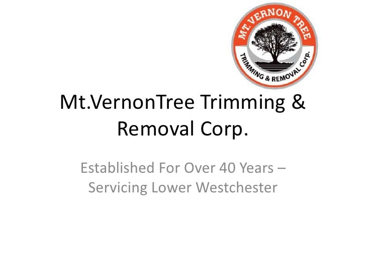 Mt.VernonTree Trimming & Removal Corp.<br />Established For Over 40 Years –Servicing Lower Westchester<br />