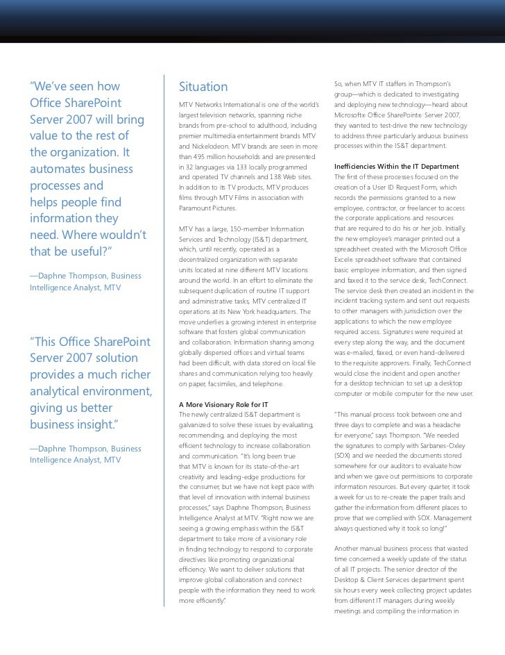 sharepoint case study Infosys' web-based distribution management solution (dms) case studies document management system helps pharmaceutical giant gain efficiency the client.