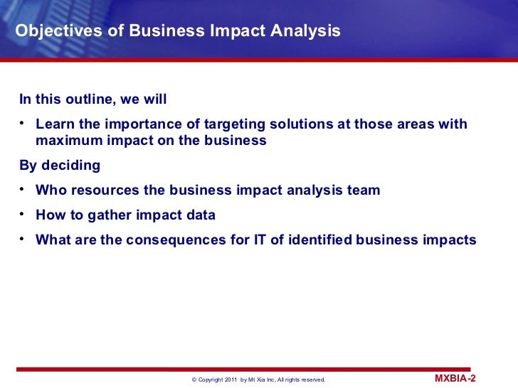 Business impact analysis flashek Gallery