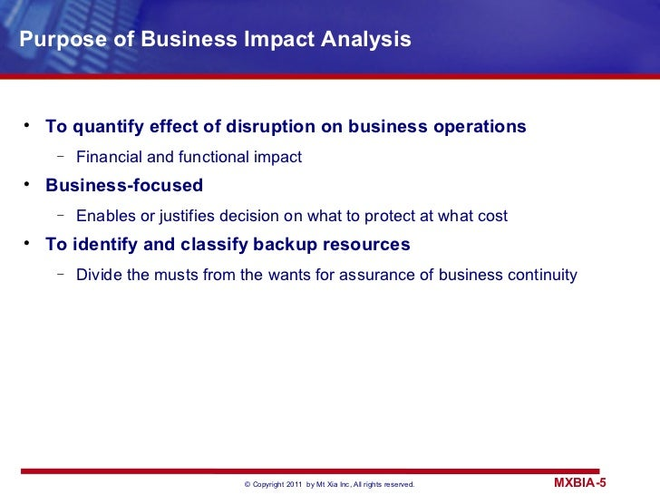 Business impact analysis flashek