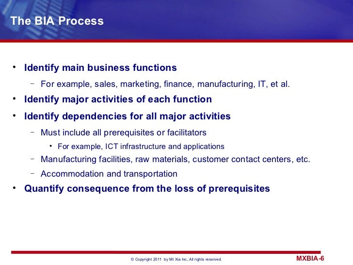 Business impact analysis 6 the bia friedricerecipe Image collections