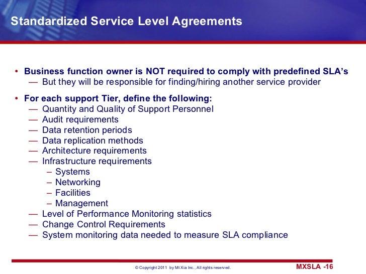 Standardized Architecture   Tier 5: BC; 16. Standardized Service Level  Agreements ...