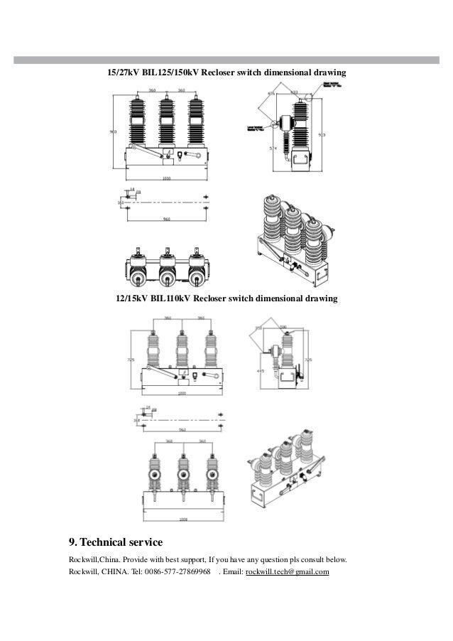 M type Pole mounted Vacuum type Auto recloser catalog