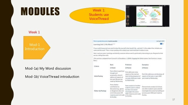 MODULES Mod-1 Introduction Mod-2 Your first ideas Mod-3 Team work (2 weeks) Mod-4 Design for learning Mod-5 Project (2 wee...