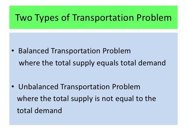 essay about transportation problems
