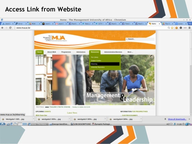Access Link from Website