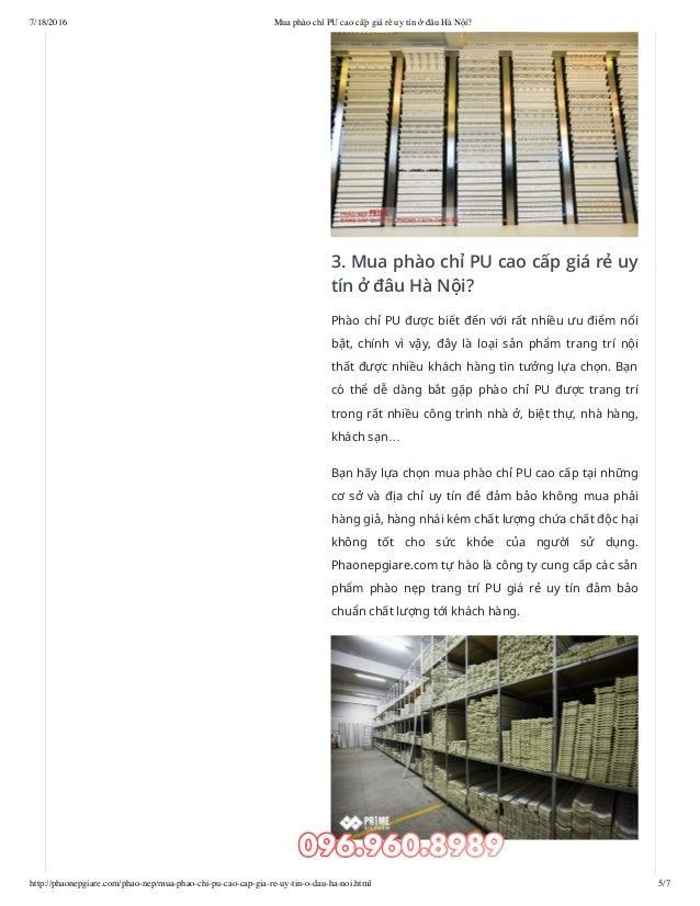 7/18/2016 Mua phào chỉ PU cao cấp giá rẻ uy tín ở đâu Hà Nội? http://phaonepgiare.com/phao-nep/mua-phao-chi-pu-cao-cap-gia...