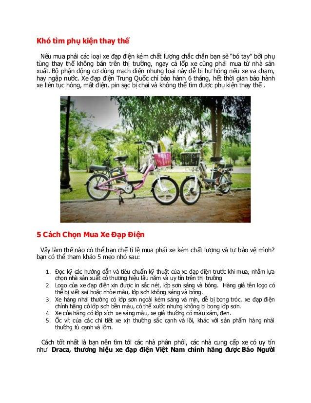 """Khó tìm phụ kiện thay thế Nếu mua phải các loại xe đạp điện kém chất lượng chắc chắn bạn sẽ """"bó tay"""" bởi phụ tùng thay thế..."""