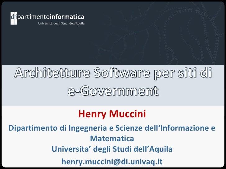 Università degli Studi dell'Aquila                                     Henry MucciniDipartimento di Ingegneria e Scienze d...