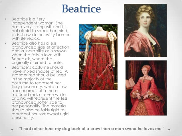 the development of beatrice and benedicks relationship essay Much ado about nothing  the governor of messina, his daughter, hero, and her cousin, beatrice, that don pedro,  destroy their relationship, .