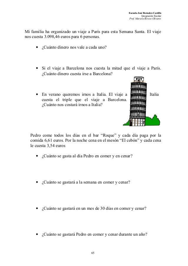 Muchas actividades de comprension lectora 3 4 5 to for Cuanto cuesta un billete de tren de barcelona a paris