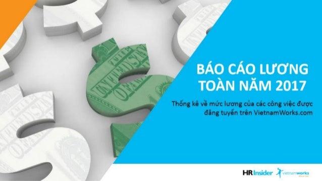 Báo cáo mức lương theo nghề của Vietnamworks