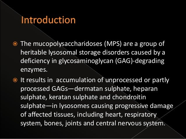 Radiological features of mucopolysaccharidoses.