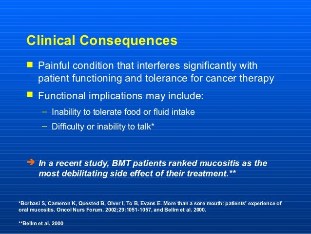 Clinical Consequences    Painful condition that interferes significantly with        patient functioning and tolerance fo...
