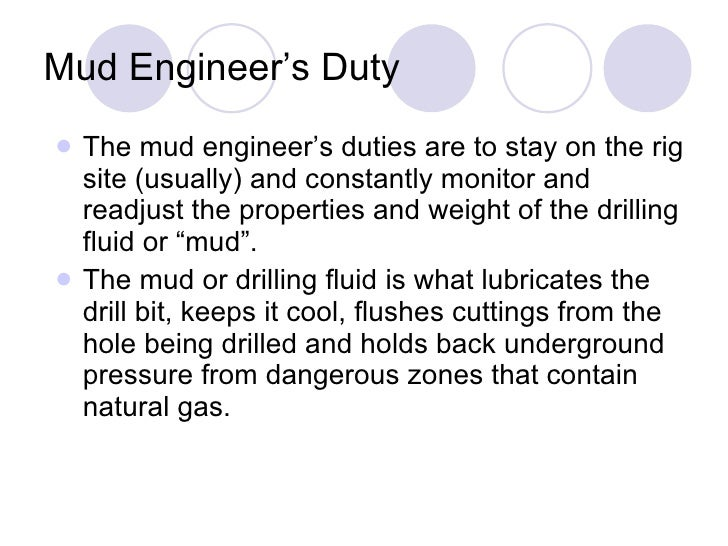 Mud Engineer Jobs in Oil Gas Industry