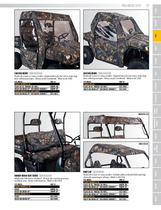 POLARIS RANGER FULLSIZE 02-08 500 700 CAB ENCLOSURE BLACK DOORS