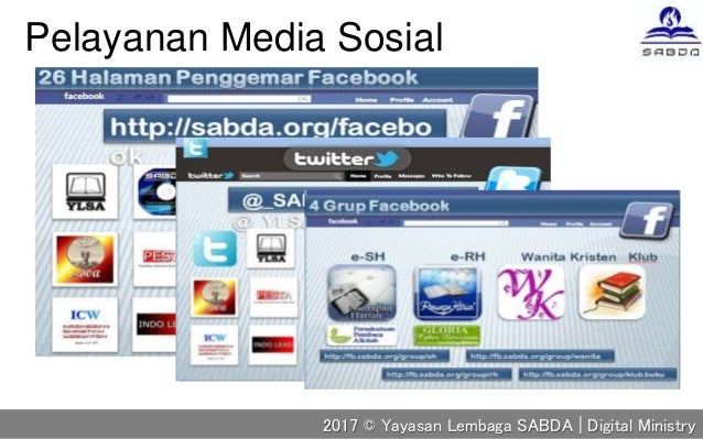 Pelayanan Media Sosial 2017 © Yayasan Lembaga SABDA | Digital Ministry