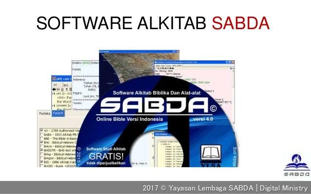 SOFTWARE ALKITAB SABDA 2017 © Yayasan Lembaga SABDA | Digital Ministry