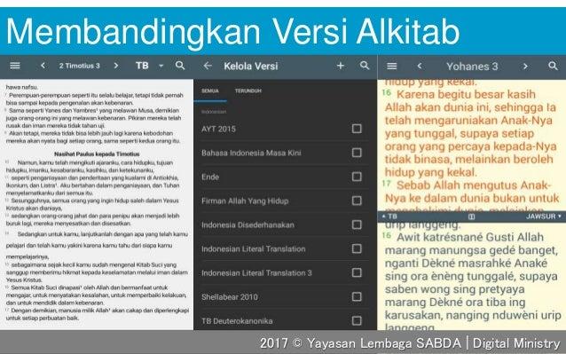 Membandingkan Versi Alkitab 2017 © Yayasan Lembaga SABDA | Digital Ministry