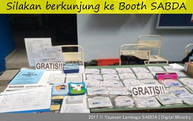 Silakan berkunjung ke Booth SABDA 2017 © Yayasan Lembaga SABDA | Digital Ministry