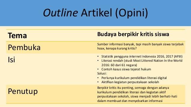 Mudah Menulis Artikel Opini