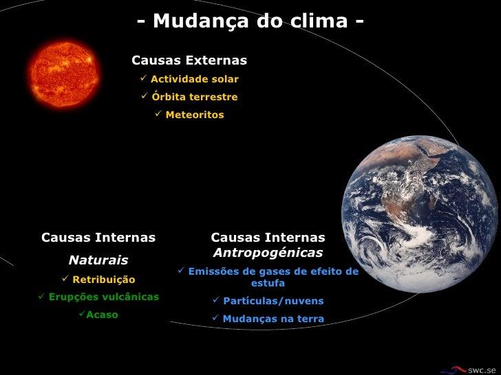 Mudanças climáticas riscos