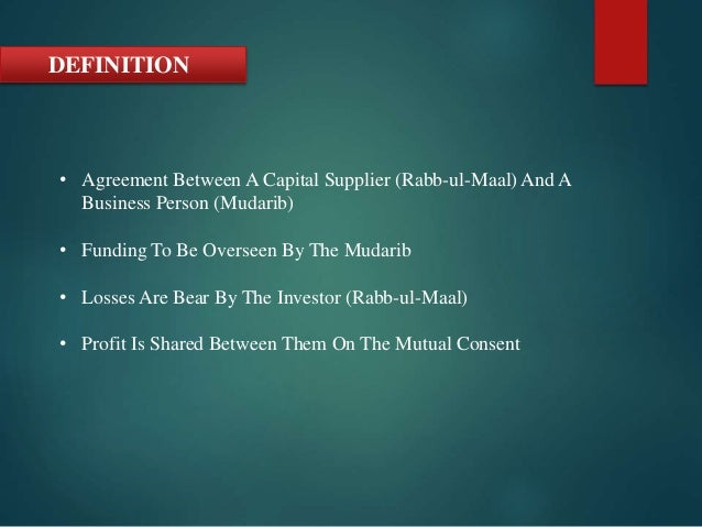 Mudarbah presentation essentials of islamic finance definition agreement platinumwayz