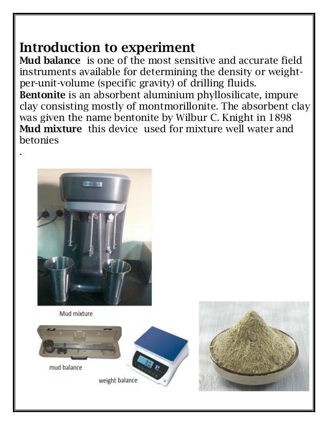 drilling mud density experiment
