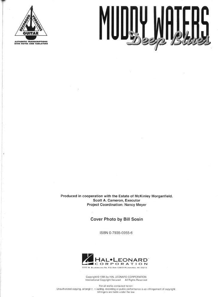 Muddy Waters - Deep Blues (Songbook)