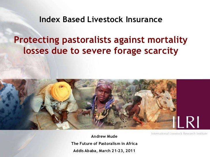 Index Based Livestock Insurance<br />Protecting pastoralists against mortality losses due to severe forage scarcity<br />A...