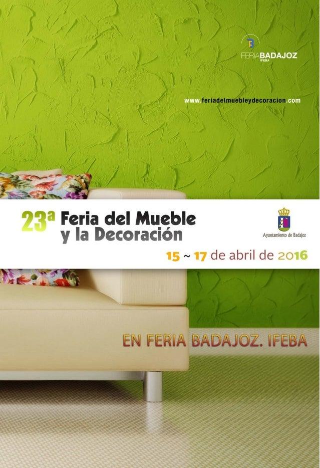 Carpeta comercial feria del mueble y la decoraci n 2016 - Comercial del mueble ...