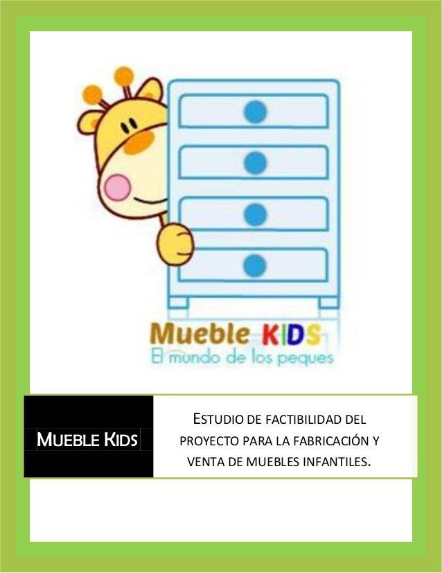 MUEBLE KIDS  ESTUDIO DE FACTIBILIDAD DEL PROYECTO PARA LA FABRICACIÓN Y VENTA DE MUEBLES INFANTILES.