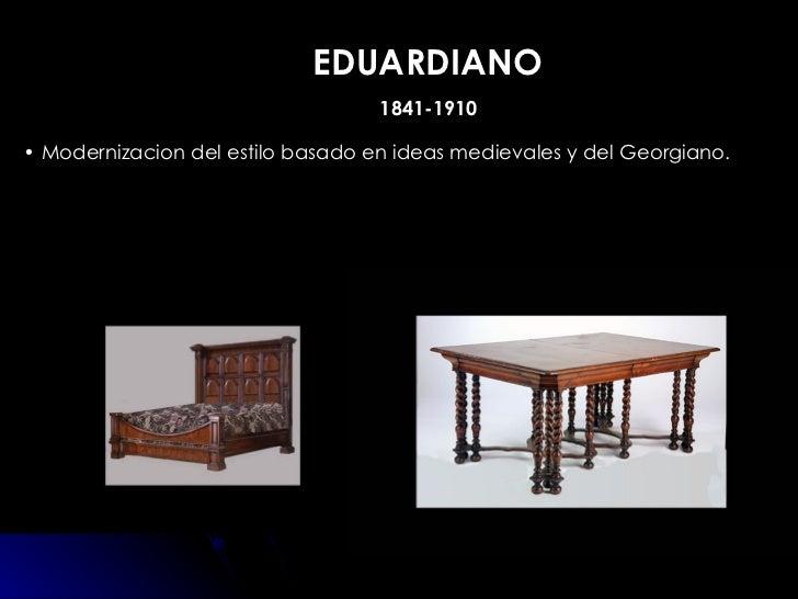 Muebles estilos for Muebles estilo isabelino moderno