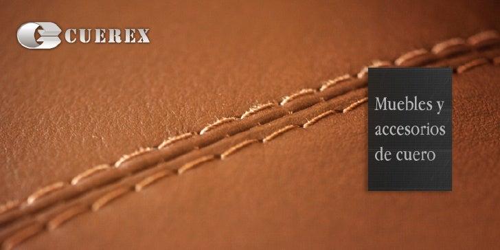 Cuerex | Muebles de cuero legítimo | Ecuador