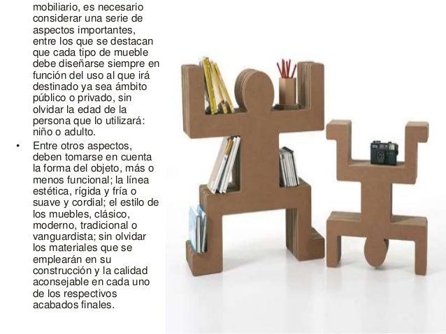 Muebles de carton for Definicion de mobiliario