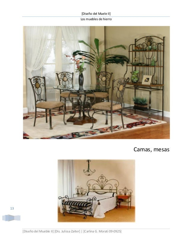 Muebles de hierro
