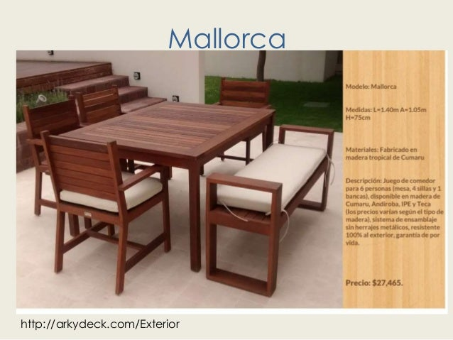 Muebles de madera para exterior en america for Muebles de exterior madera