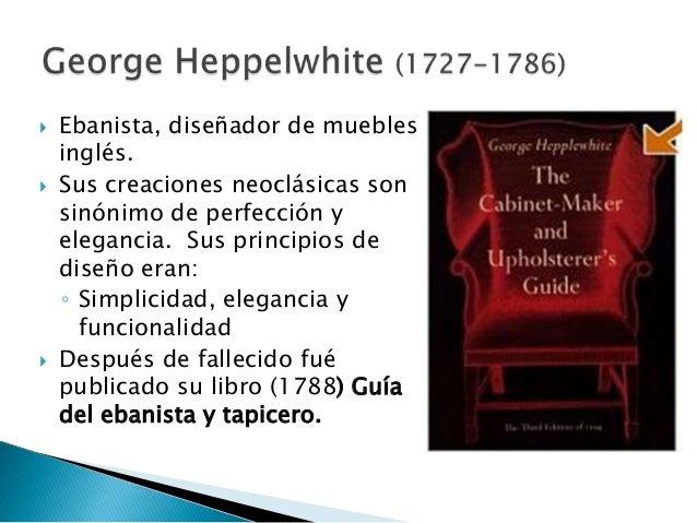 Muebles neoclásico Ingles. Hepplewhite y Sheraton Slide 3