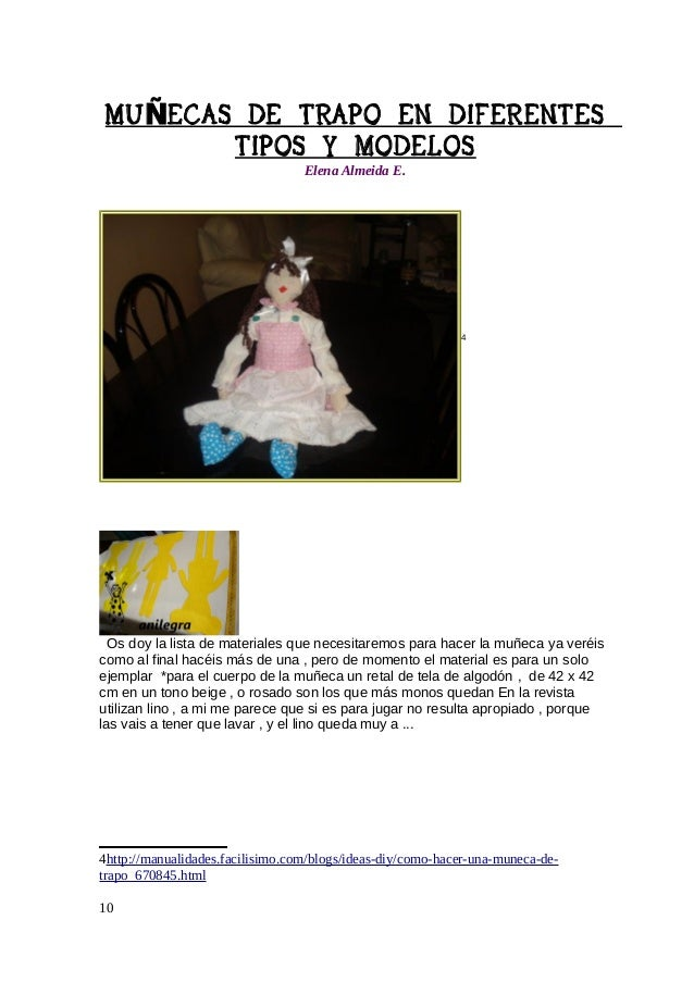 MU ÑECAS DE TRAPO EN DIFERENTES TIPOS Y MODELOS Elena Almeida E.  Muñeca de base  Tiernecita perfumada, regálatela,luego d...