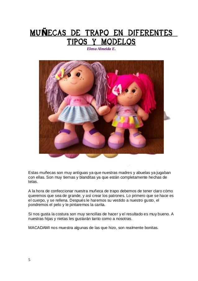 MU ÑECAS DE TRAPO EN DIFERENTES TIPOS Y MODELOS Elena Almeida E.  6