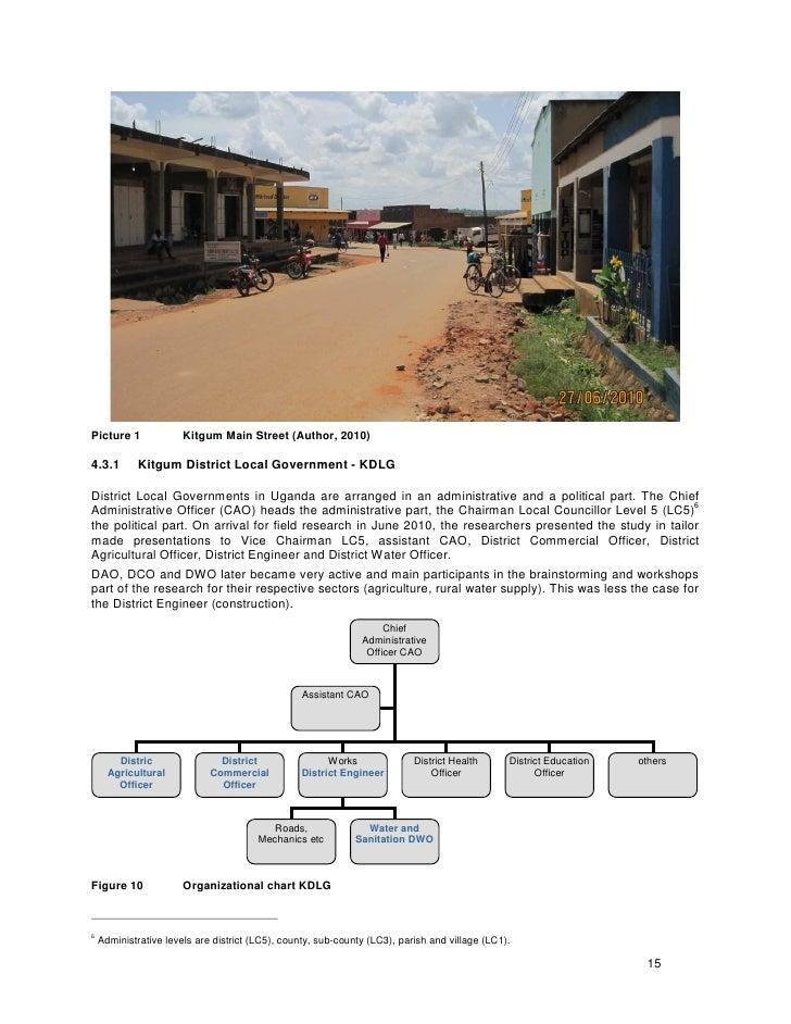 Picture 1              Kitgum Main Street (Author, 2010)  4.3.1        Kitgum District Local Government - KDLG  District L...