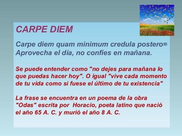 Signification carpe diem quam minimum credula postero mediwiki carpe diem carpe diem quam minimum credula postero altavistaventures Image collections