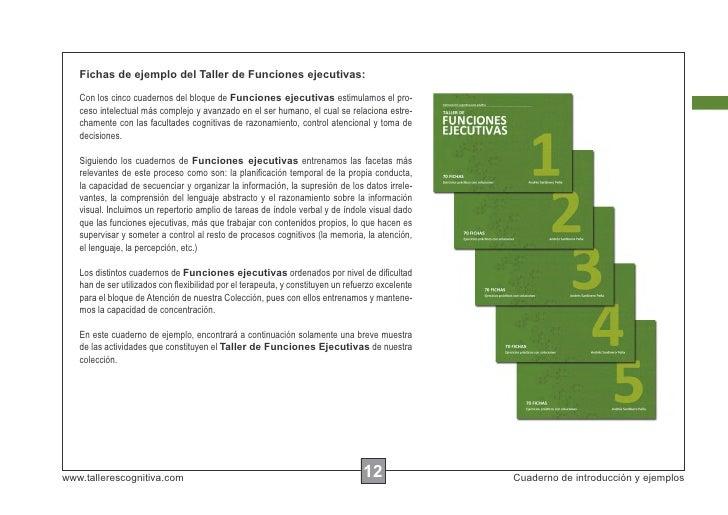 Fichas de ejemplo del Taller de Funciones ejecutivas:   Con los cinco cuadernos del bloque de Funciones ejecutivas estimul...